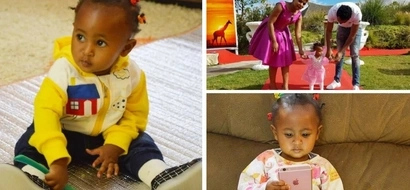 This is how Size 8 and DJ Mo's MILLIONAIRE daughter celebrated her 1st birthday (photos)