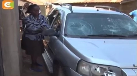 Migori woman who smashed windows of husband's car in another bold move
