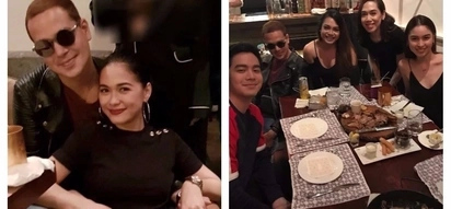 New look siya! John Lloyd Cruz shows off new hair color at Maja Salvador's birthday party