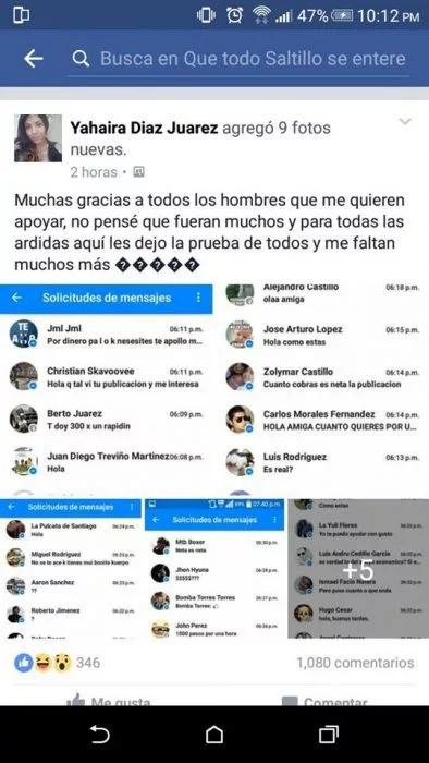 En México joven expuso a los que le ofrecieron dinero por sexo