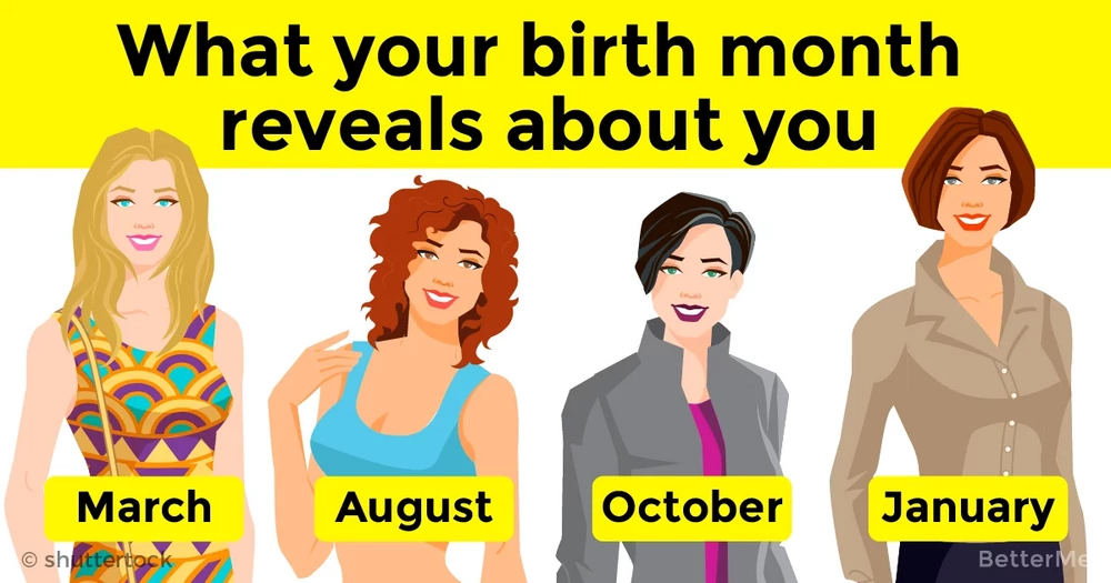 Discover what your birth month reveals about you