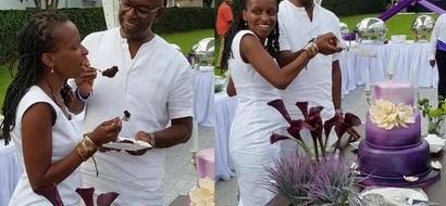 7 cute photos of Safaricom's Bob Collimore with his wife Wambui