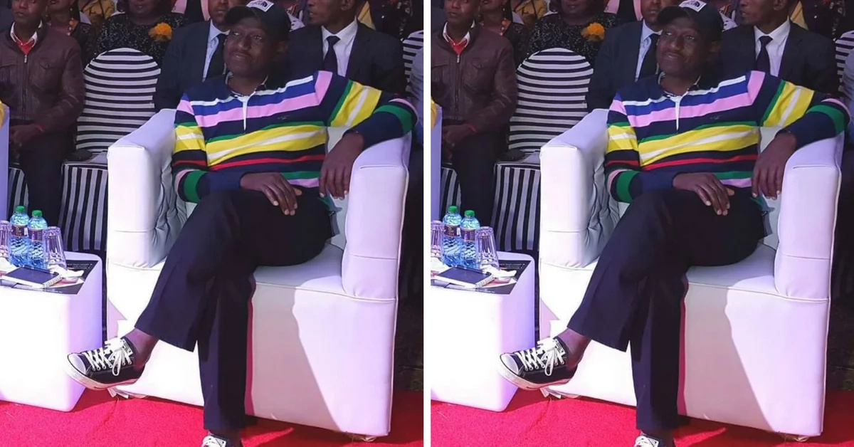 Ruto without socks
