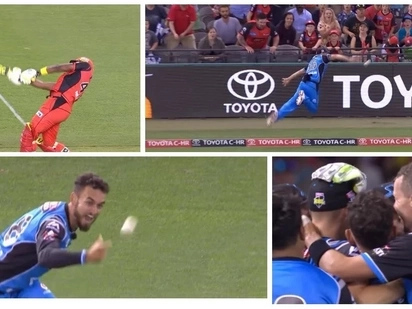 Howzat! Possibly the greatest cricket dismissal since Jonty Rhodes' epic runout