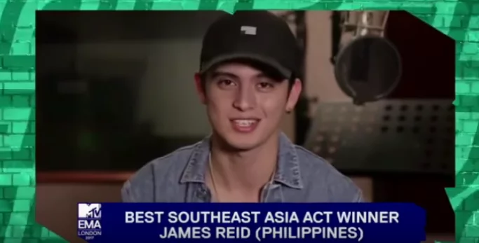 It's a victory for James Reid as he wins in MTV Europe Music Awards