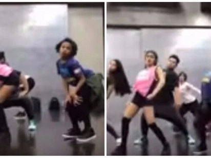 Watch the viral video of Andrea Brillantes and Awra's dance showdown in round 2!