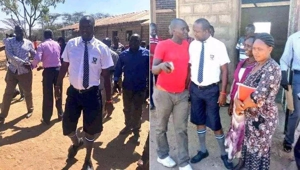 KANU MP arrives at school in full school uniform and it is the sweetest thing you will see today