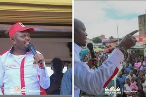Moses Kuria emerges after allegedly being beaten up by NASA supporters in Nyamira