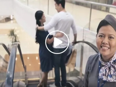 Let SM's viral elevator lady show you the mall's escalator etiquette