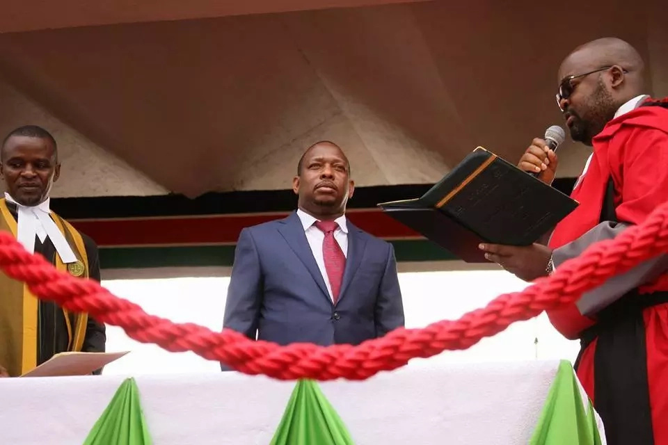 Sonko and Igathe's dance on inauguration sending Uhuru laughing