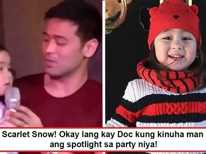 Sobrang cute kaya 'niya! Scarlet Snow grabs the spotlight from Doc Vicki as she renders 'Somewhere Out There' during Doc's Coachella party