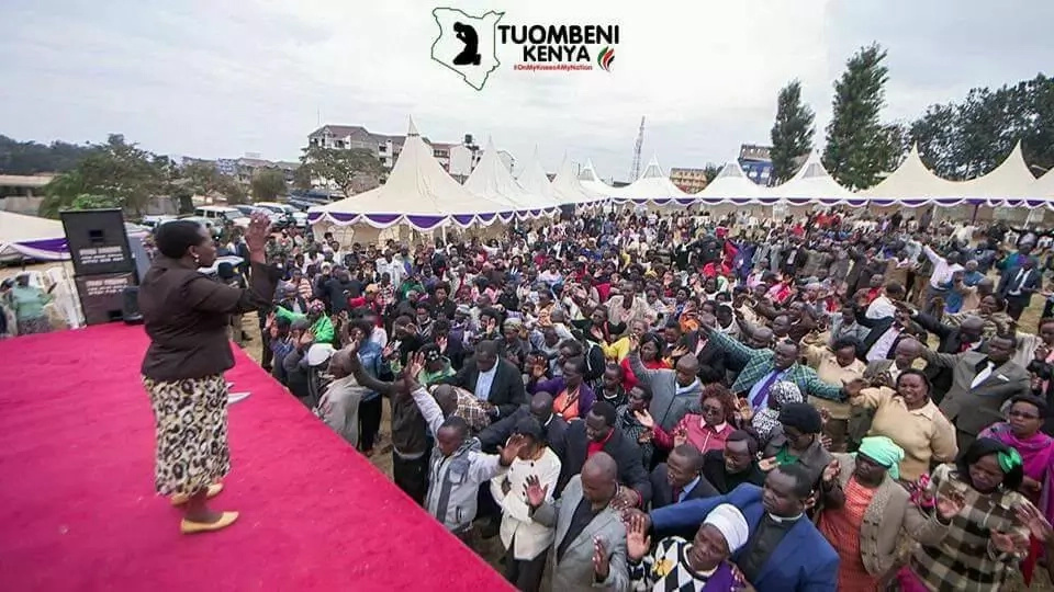 These photos of Rachel Ruto leading a prayer crusade will melt your heart
