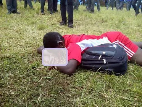 Female student hit by a stray bullet in Migori