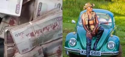 Self-proclaimed Kenya's richest female singer, Akothee flaunts wads of notes on social media