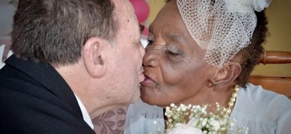 World's oldest FIANCEE, 106, marries her toyboy, 66, in retirement home (photos, video)