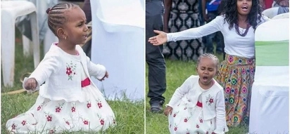 Five year-old girl excites Kenyans after she was captured in deep intercessory prayers