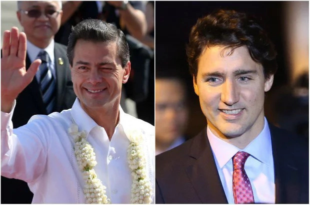 Enrique Nieto, Justin Trudeau jog together in Quebec