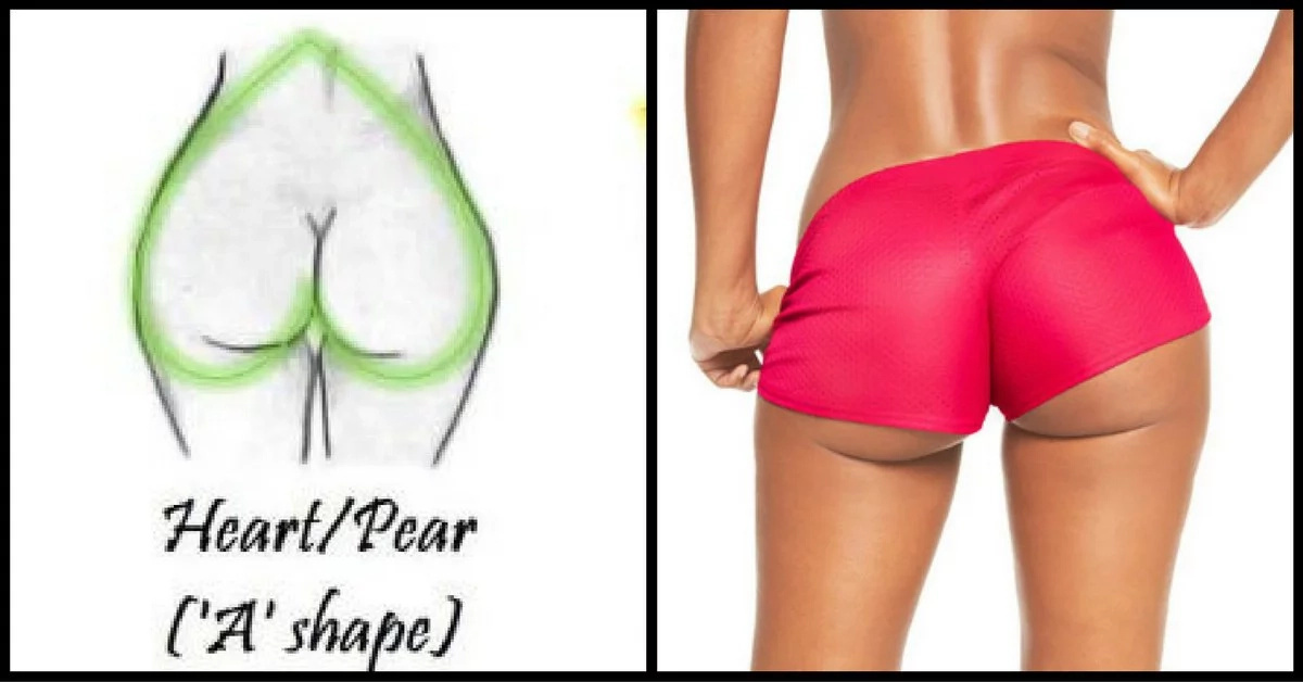 The 4 shapes of women butts