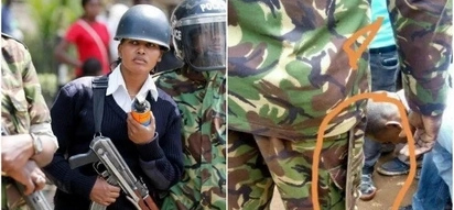 Hot female anti-riot police leaves Kenyan men high and not so dry with her killer looks (Photos)