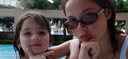 Ang cute! These photos of Andi Eigenmann and Ellie on a pool date will melt your heart