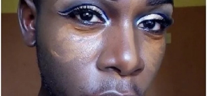 Kenyan man shocks online community after wearing make-up like a woman(Photos)