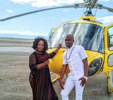 Kenyan gospel musician hires two helicopters for a music video