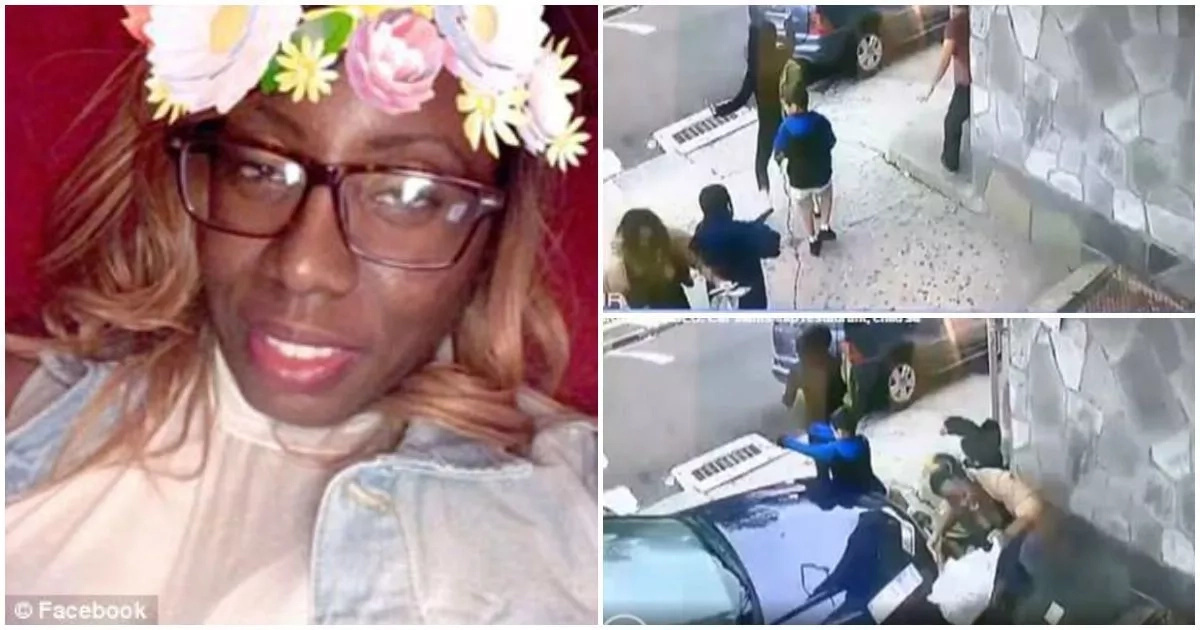 This brave elderly woman shields boy from impact of car that rammed into wall (photos, video)