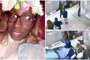 Heroic woman saves boy's life by shielding him from impact of car that RAMMED into wall (photos, video)