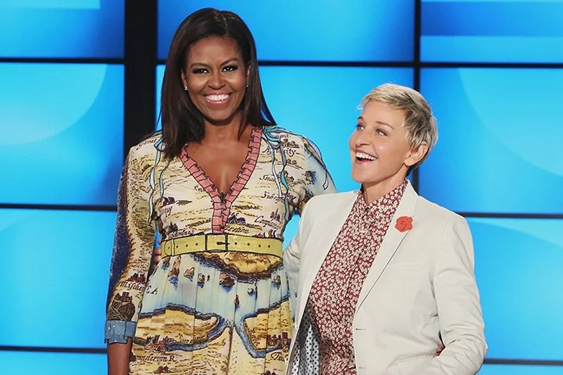 Michelle Obama and Ellen DeGeneres during a previous show