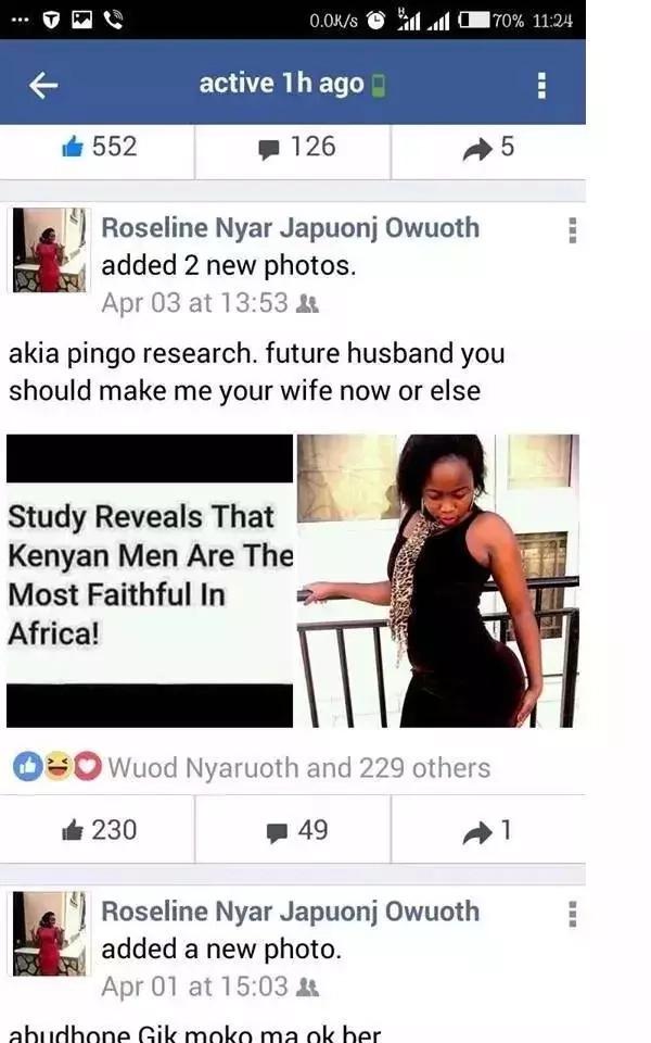 Msichana umbo la NAMBARI 8 awaomba wanaume kumuoa Facebook