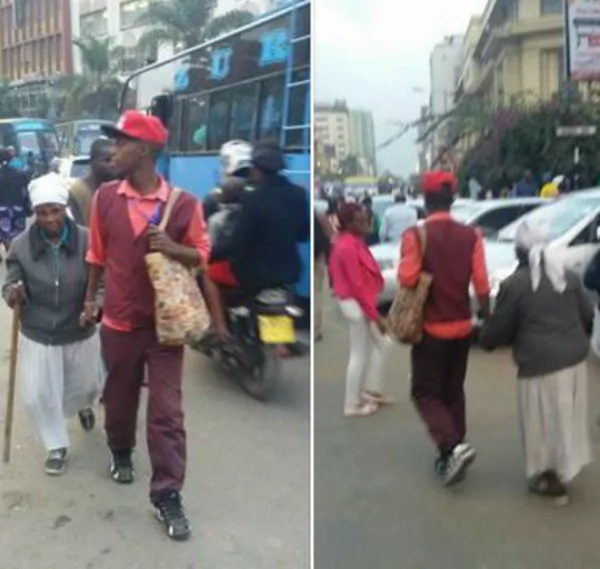 May God bless you abundantly! People bless conductor of the minibus for helping grandmother