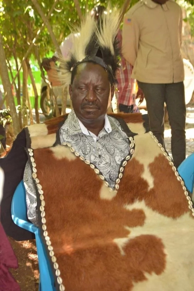 Raila declares he's the best candidate after being giving powers from traditional rituals