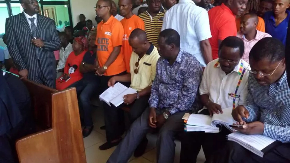 Opposition leader Raila Odinga is in court to sue the state over harassment
