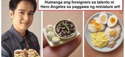 Lodi talaga siya! Hero Angeles gets featured by internation channel for his talent in creating miniature art