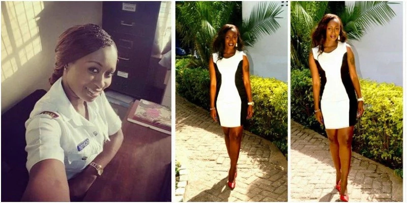 Yous should see how Kenya's PRETTIEST cop looked hot on Valentine's Day (photos)