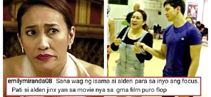 Ai-Ai delas Alas' fan bashed Alden Richards by calling his projects 'flop'! The comedienne fired back