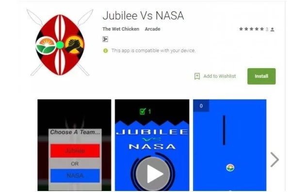 "Jubilee vs NASA"" video game hits the Kenyan market and it's interesting"