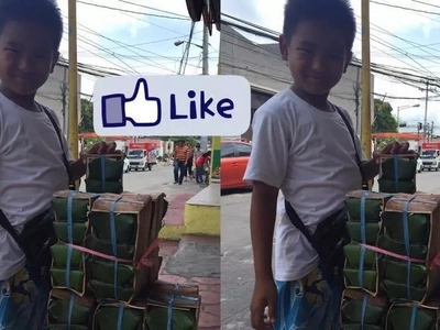 Hard-working 10-yr-old Pinoy kid endures leaving home to sell kesong puti on the street