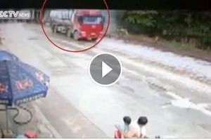 See how this speeding truck hit roadside store