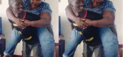 Kenyan guy shows off his woman who is two times bigger than him and you will love it