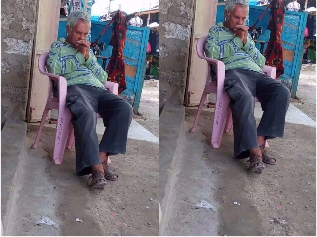 Old tourist now lives in total poverty after a woman named Njeri stole everything from him