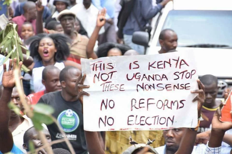 National Super Alliance defies Matiang'i order, hold protests in Nairobi CBD