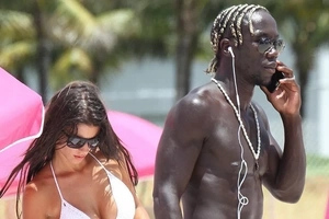 Photos of black footballers with white wives/girlfriends