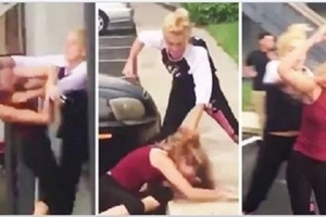 Girl Beats The Sh*t Out Of Chick Who Banged Her Dad