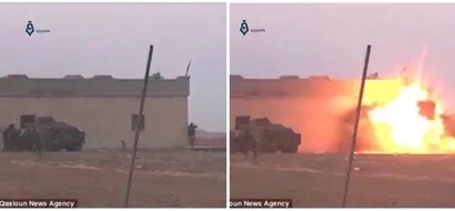 Epic fail! See the moment suicide bomber prematurely detonates bomb and blows ONLY himself up (photos, video)