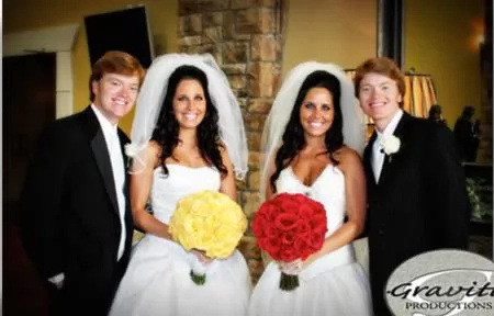 Identical twins marrying another identical twins