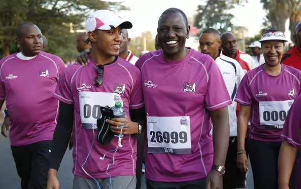 Uhuru and his vice likely to feature in half marathon at Nyayo