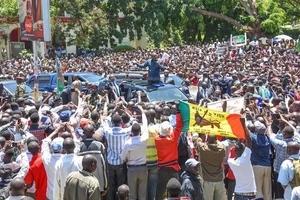 Drama erupts in Kisumu during Uhuru's visit as a snake is found under seats