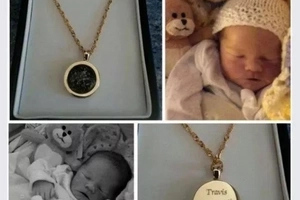 Power of mother's love! Mom wears pendant made from her baby's ASHES who died hours after birth (photos)