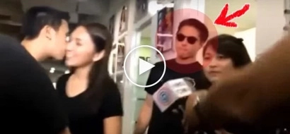 Jealous Daniel Padilla reacts savagely when fan kissed Kathryn Bernardo on cheek